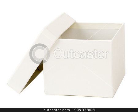 Open white box stock photo, Open white carton box on isolated white background by cherezoff