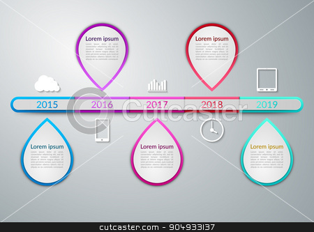 Vector illustration of a timeline infographics stock vector clipart, Vector illustration of a timeline infographics. Stock vector by Amelisk