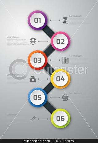 Vector illustration gift voucher template stock vector clipart, Vector illustration gift voucher template. Stock vector by Amelisk