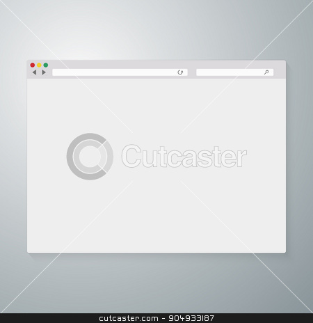 Vector illustration of the browser window stock vector clipart, Vector illustration of the browser window. Stock vector by Amelisk