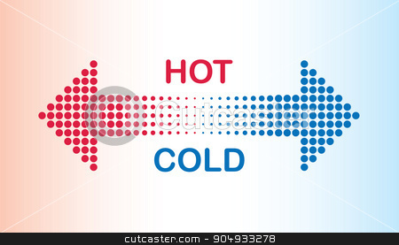 hot and cold stock vector clipart, hot and cold by jameschipper