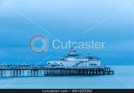 Eastbourne pier in UK stock photo, Eastbourne pier in UK, blue hour light by Dutourdumonde