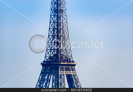 Closeup of the Eiffel Tower stock photo, Closeup of the Eiffel Tower in Paris, France by Dutourdumonde