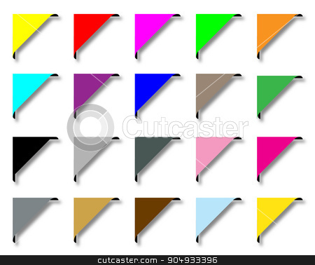 Stylized Page Corners stock vector clipart, A collection of web page corners over a white background by Kotto