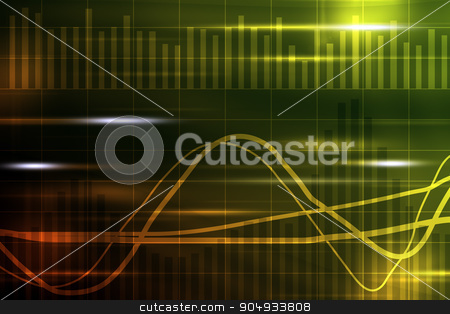 Abstract colorful background stock photo, Abstract colorful background with waves and lines by cherezoff