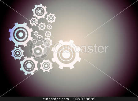 Abstract gear wheels stock photo, Set of abstract gear wheels on colorful background by cherezoff