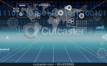 Abstract background with map stock photo, Abstract background with world map and numbers by cherezoff