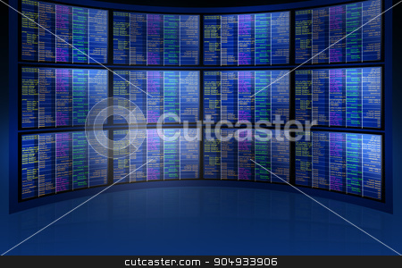 Set of screens stock photo, Set of blue screens, futuristic concept, abstract background by cherezoff