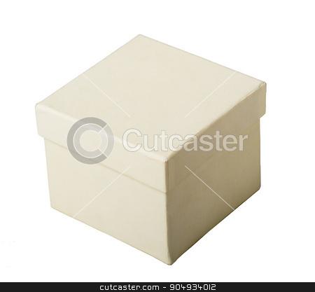 White box, closeup stock photo, White carton box on isolated white background, closeup by cherezoff