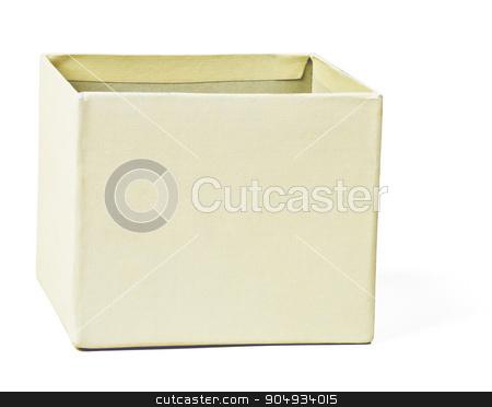 White box, closeup stock photo, Open white carton box on isolated white background by cherezoff