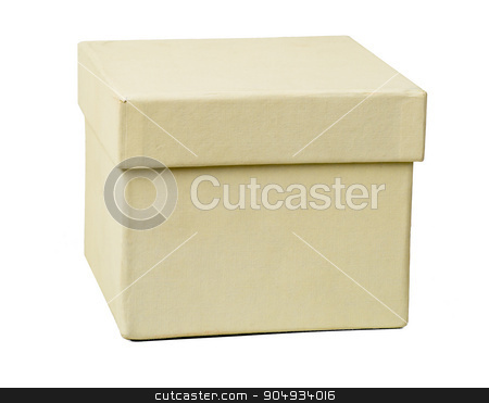 White box, closeup stock photo, White carton box on isolated white background, front view by cherezoff