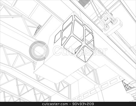 Illustration of equipment for heating system stock vector clipart, Equipment for heating system on white. Vector by cherezoff