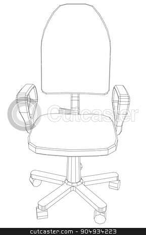 Illustration of chair stock vector clipart, Illustration of chair on white background, vector by cherezoff