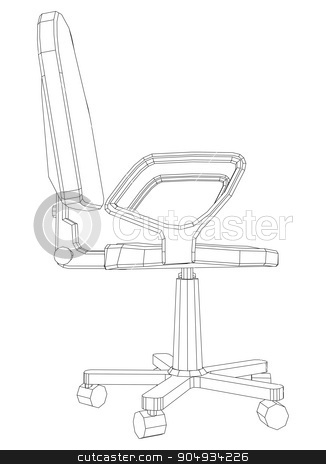 Illustration of chair stock vector clipart, Illustration of chair on white, vector illustration by cherezoff