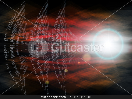 Digital Abstract background stock photo, Digital Abstract background with numbers and light by cherezoff