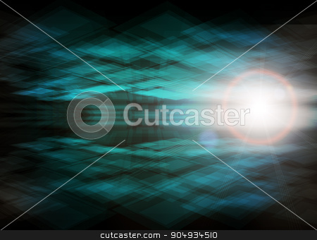 Digital Abstract background stock photo, Abstract blue background with numbers and lightspot by cherezoff