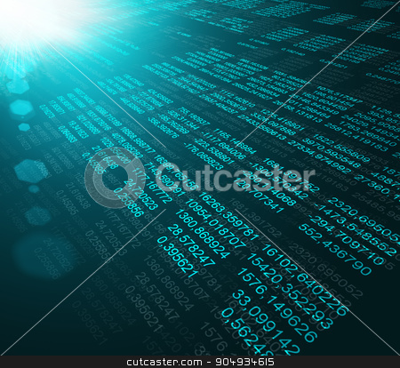 Modern display of data source code stock photo, Modern display of data source code. Programming code abstract screen of software developer by cherezoff