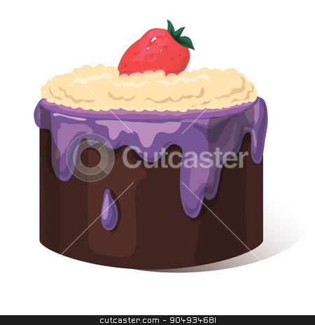 cupcake isolated on white background stock vector clipart, Vector illustration of cupcake isolated on white background by Aleksandra Serova