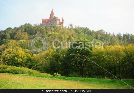 Castle Bouzov stock photo, Beautiful castle in the Czech Republic - Bouzov by Ondrej Vladyka