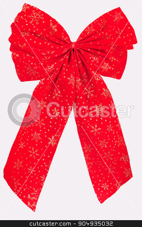 red bow isolated on white  background stock photo, red bow isolated on white background by Mykola Sinkevych