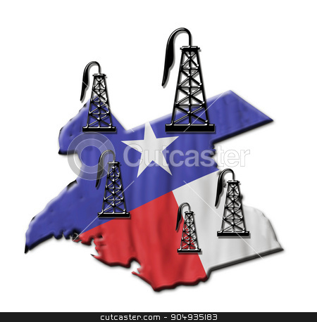 Texas Oil. stock photo,  Texas booming oil field industry. by WScott