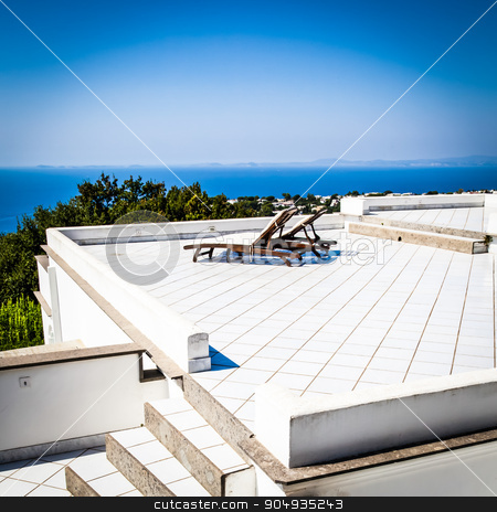 Relax - Naples Gulf stock photo, Terrace on Naples Gulf: two seats with a wonderful view by Paolo Gallo