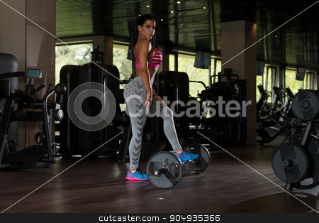 Sexy Mexican Woman Resting In The Gym stock photo, Young Mexican Woman Resting After Working Out In Fitness Center by Jasminko Ibrakovic