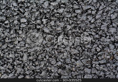 Asphalt layer stock photo, New asphalt layer - granular abstract structure by Attila Toró