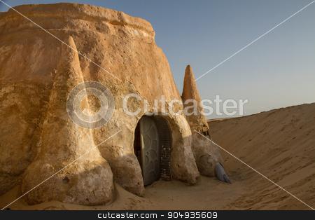 House in the Sahara stock photo, House in the Sahara desert in Tunisia by Ksenija