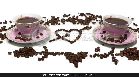 coffee on a white background stock photo, The photograph shows a coffee on a white background by AlexBush