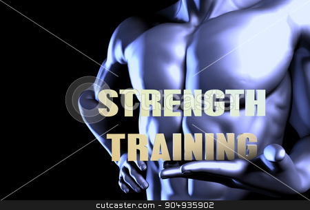 Strength training stock photo, Strength training With a Business Man Holding Up as Concept by Kheng Ho Toh