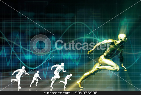 Fitness Training stock photo, Fitness Training Program as a Art Concept by Kheng Ho Toh