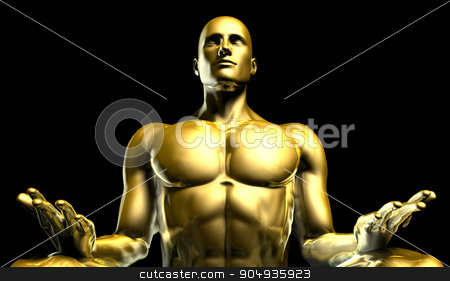 Man Sitting in the Lotus Position in Yoga stock photo, Man Sitting in the Lotus Position in Yoga as Art by Kheng Ho Toh