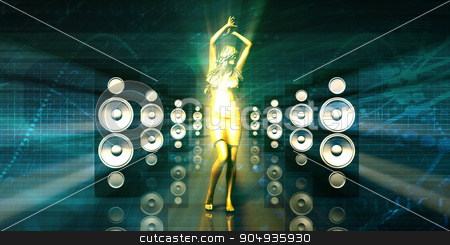 Music Festival stock photo, Music Festival and Concert with Glowing Lights by Kheng Ho Toh