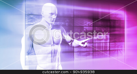 Artificial Intelligence stock photo, Artificial Intelligence and Data Security for Robots by Kheng Ho Toh