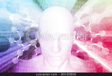 Technology Background stock photo, Technology Background as a Futuristic Abstract Concept by Kheng Ho Toh