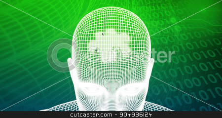 Brain Processor stock photo, Brain Processor of a Human Mind and Memory Concept by Kheng Ho Toh