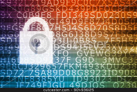 Security Concept stock photo, Security Concept for Technology and Online Data by Kheng Ho Toh