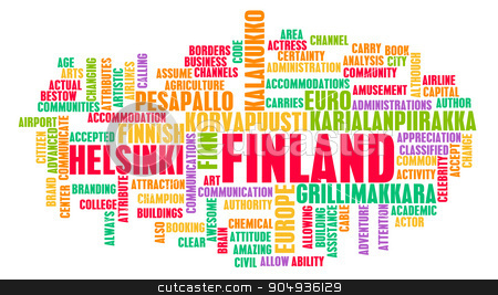 Finland stock photo, Finland as a Country Abstract Art Concept by Kheng Ho Toh