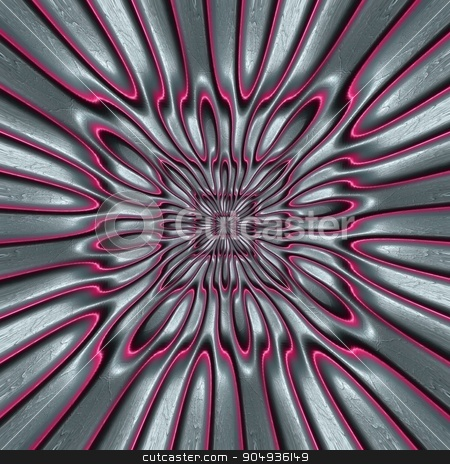 Pattern background leather tile stock photo, Luxury background tile with embossed fractal on leather by Maria Repkova