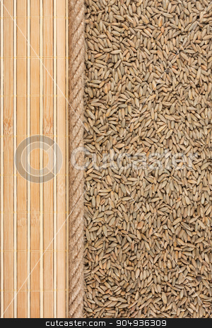 rye, mat and rope for the menu stock photo, rye, mat and rope for the menu, can be used as background by alekleks
