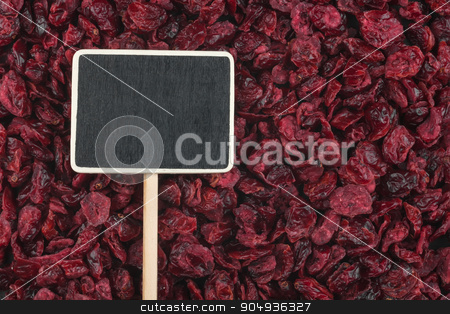 Pointer, the price tag lies on cranberry stock photo, Pointer, the price tag lies on cranberry, with space for your text by alekleks