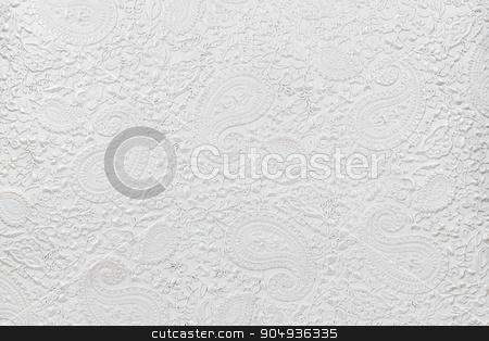 The texture of white patterned leather stock photo, The texture of white patterned leather, as a background by alekleks