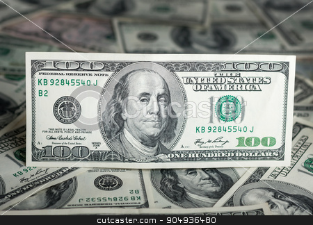 $100 - money background. stock photo,  $100 - money background. Banknotes of a one hundred dollars. by alekleks