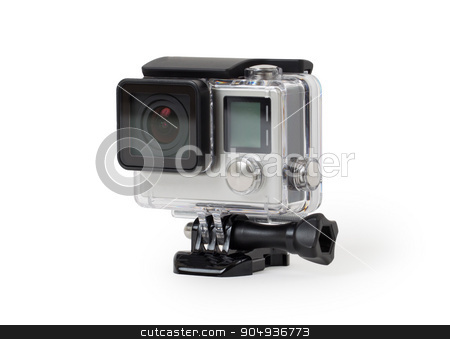 High-definition personal camera, isolated, no brand stock photo, High-definition personal camera, isolated on a white background, no brand by michaklootwijk
