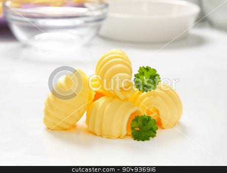 Butter curls stock photo, Studio shot of butter curls by Digifoodstock