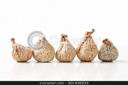Dried figs stock photo, Studio shot of sugar-coated dried figs by Digifoodstock