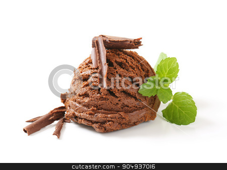 Chocolate ice cream stock photo, Scoop of chocolate ice cream by Digifoodstock