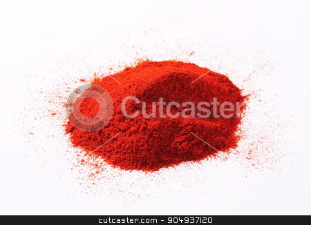 Paprika powder stock photo, Heap of red paprika powder by Digifoodstock