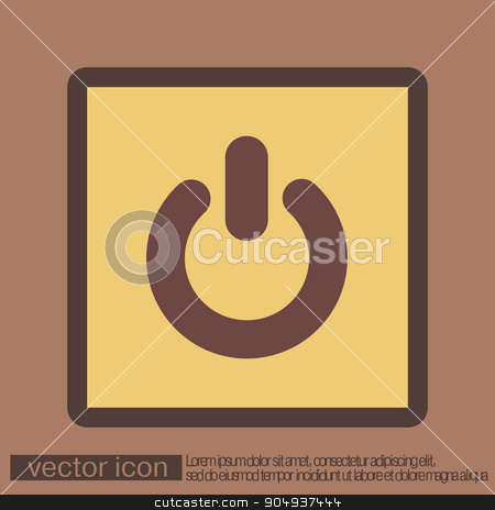 power sign. character on and off stock vector clipart, power sign. character on and off by LittleCuckoo
